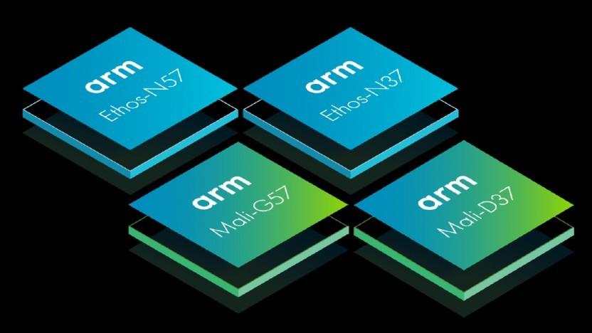 ARM kündigt drei Ethos-NPUs, eine Mali-GPU und eine Mali-DPU an.