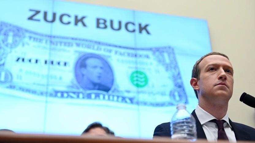 Facebook-Chef Mark Zuckerberg muss sich kritische Fragen zu Libra anhören.