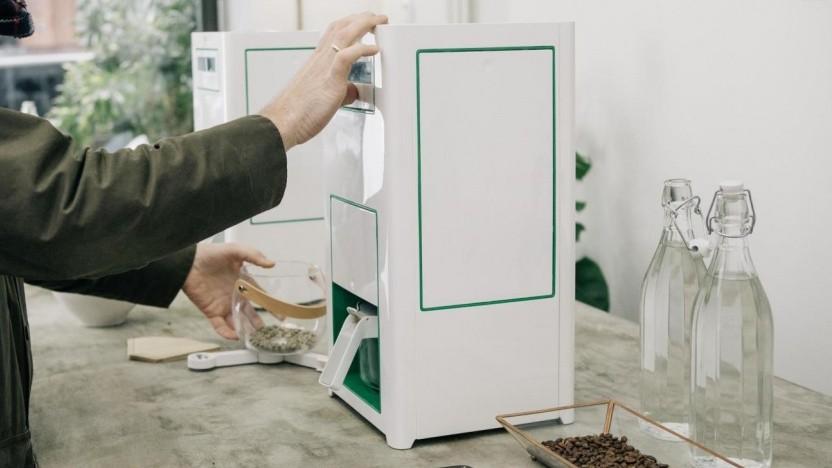 Eine Bonaverde-Kaffeemaschine im Einsatz.