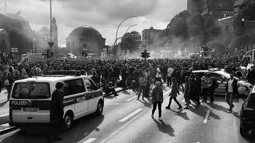 Viele Menschen haben 2017 zum G20-Gipfel in Hamburg protestiert.