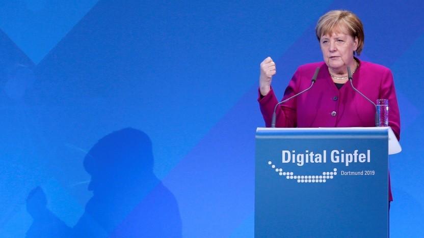 Angela Merkel auf dem Digitalgipfel 2019 in Dortmund