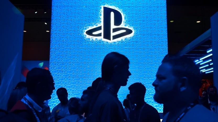 Logo von Playstation auf einer Messe