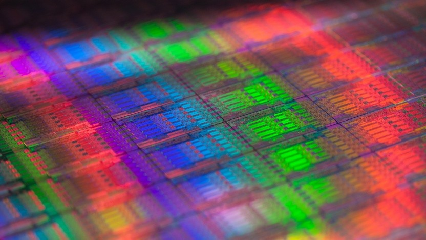 Ein Wafer mit älteren Haswell-EP-Chips (Xeon E5-2600 v3)