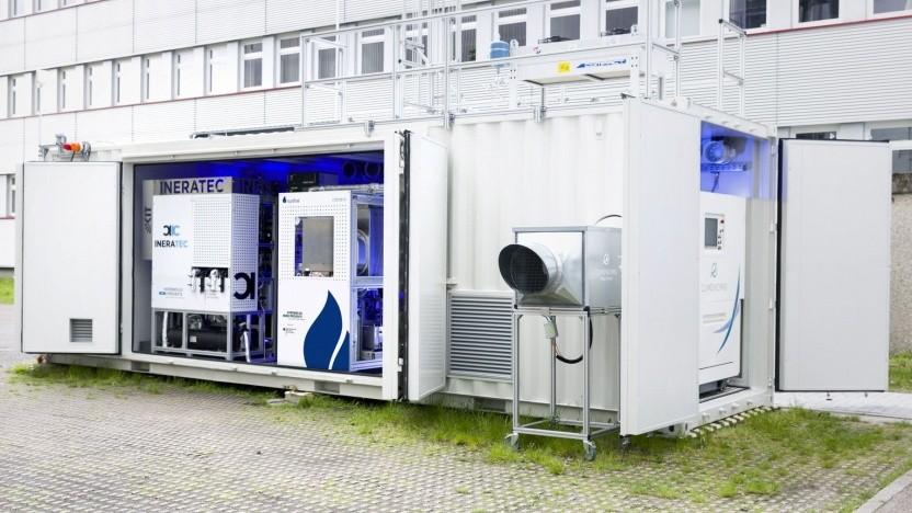 Erste integrierte Power-to-Liquid-Versuchsanlage in Karlsruhe: relativ magere Ausbeute