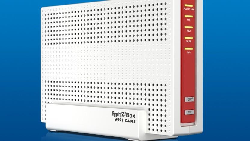 Die Fritzbox 6591 Cable ermöglicht Gigabit-Geschwindigkeiten im Kabelnetz.
