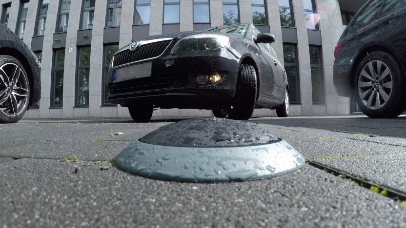 Video: Der Bosch-Sensor überwacht den Parkplatz von Golem.de.