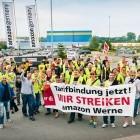 Standort Werne: Amazon-Beschäftigte streiken gegen Altersarmut