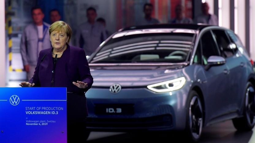 Bundeskanzlerin Angela Merkel beim Produktionsstart des VW ID.3 in Zwickau