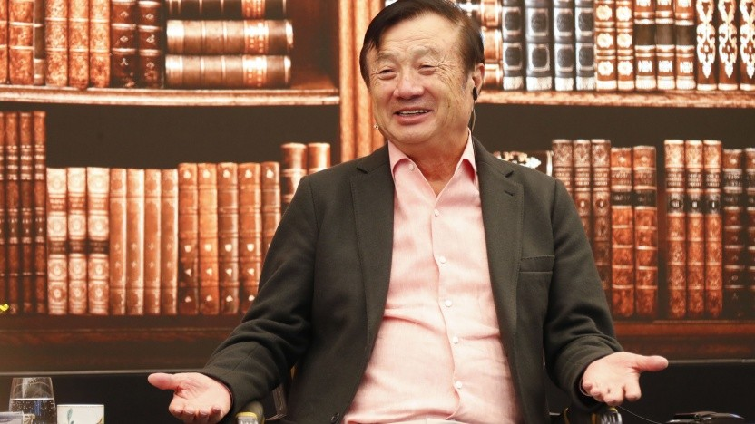 Huawei-Chef Ren Zhengfei spricht in Shenzhen.