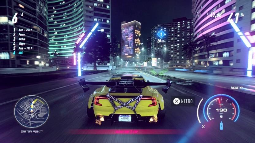 Der Nachtmodus von Need for Speed Heat