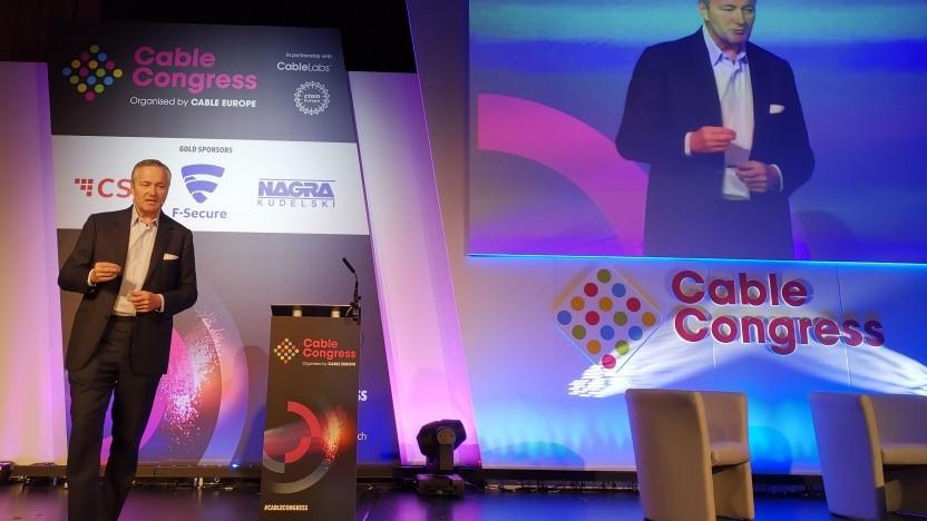 Vodafone-Chef Hannes Ametsreiter spricht in Berlin.