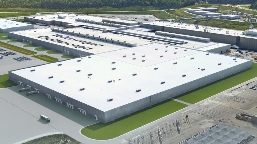Erweiterungsbau für die Produktion der E-Autos im US-Werk Chattanooga