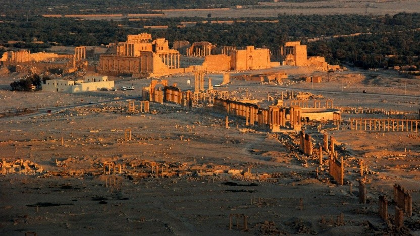 Palmyra mit Bel-Tempel vor der Zerstörung durch den IS (Bild von 2008)