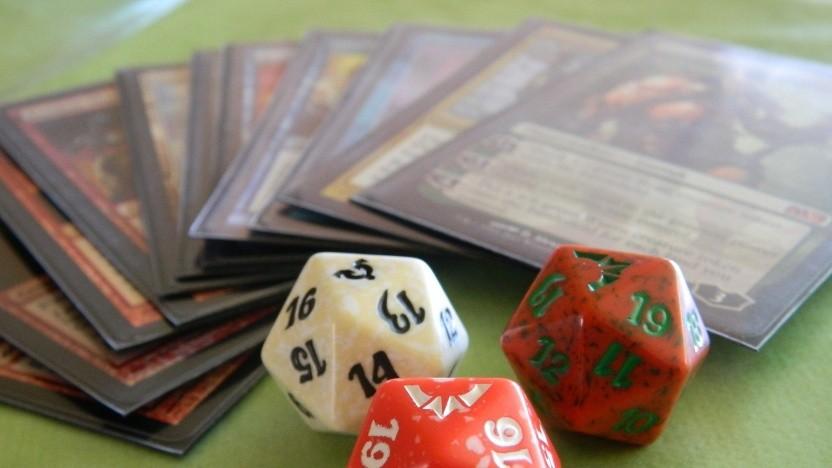 Magic-Karten mit D20-Würfeln