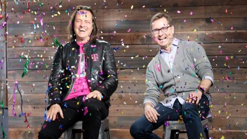 Der alte und der neue Chef von T-Mobile US
