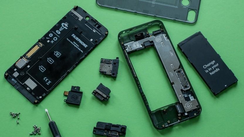 Das auseinandergenommene Fairphone 3