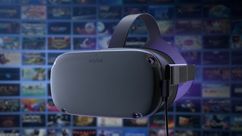 Oculus Quest mit USB-Kabel