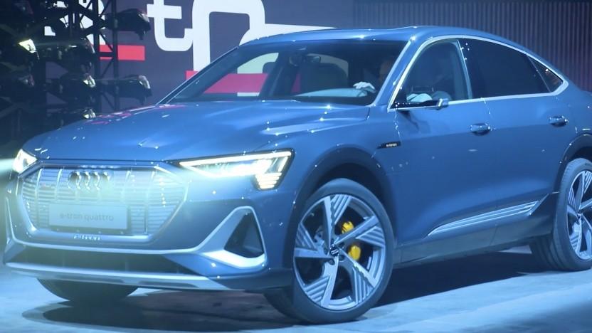 Audi stellt E-Tron Sportback vor.