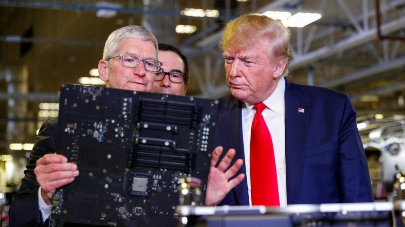 Apple-Chef Tim Cook und US-Präsident Donald Trump am 20. November 2019 in Austin, Texas