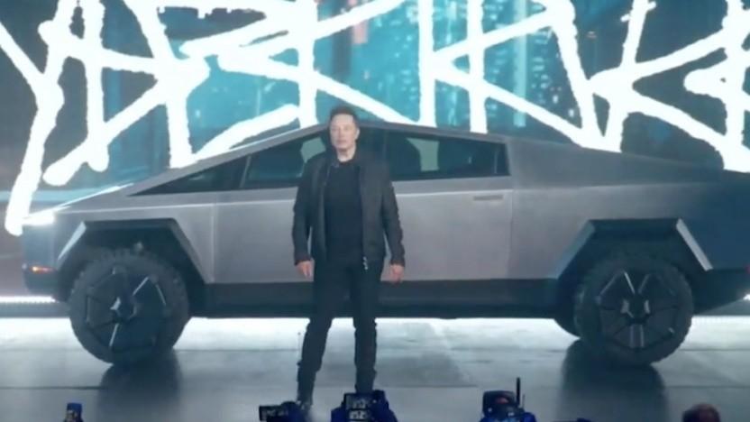 Panne bei Vorstellung von Teslas