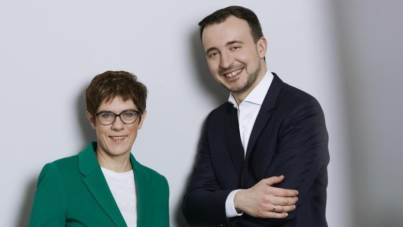 CDU-Vorsitzende Annegret Kramp-Karrenbauer und Generalsekretär Paul Ziemiak