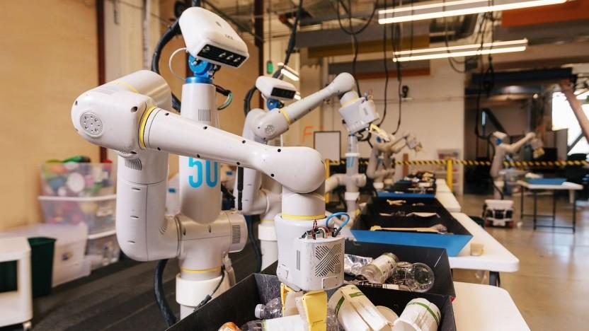 """Roboter beim Mülltrennen: """"Die meisten Roboter sind das, was in den 60er und 70er Jahren Mainframe-Computer waren."""""""