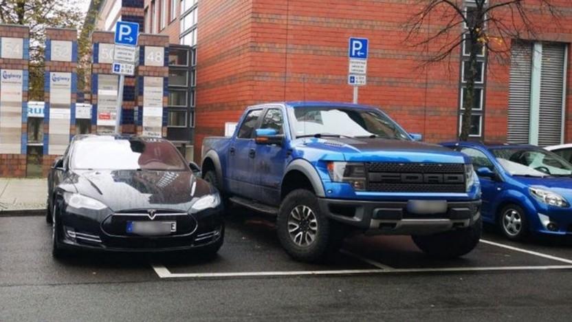 Dieser Falschparker wurde von der Berliner Polizei später abgeschleppt.