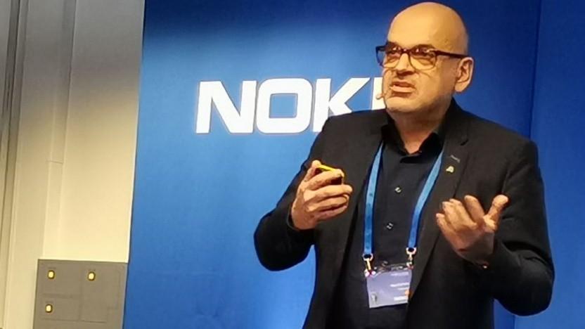 Horst Schmitz, Leiter Technik bei Netcologne, spricht in Stuttgart