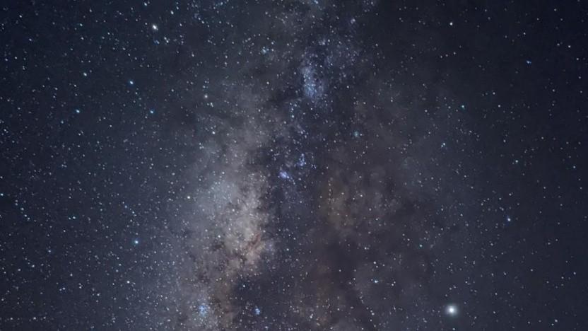 Ein Bild der Milchstraße, aufgenommen mit dem Pixel 4 XL