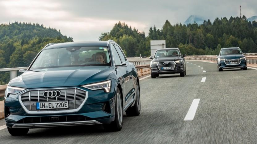 Der Audi E-Tron soll künftig mit einer Akkuladung 25 Kilometer weiter kommen.