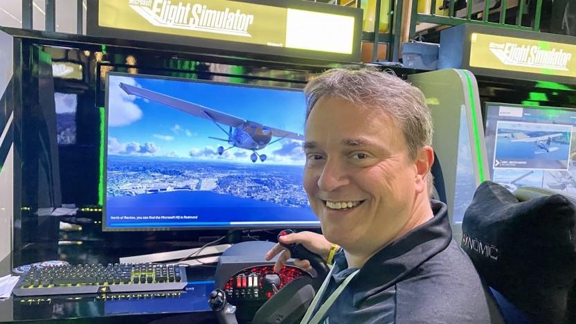 Jörg Neumann, Entwicklungschef des Microsoft Flight Simulator