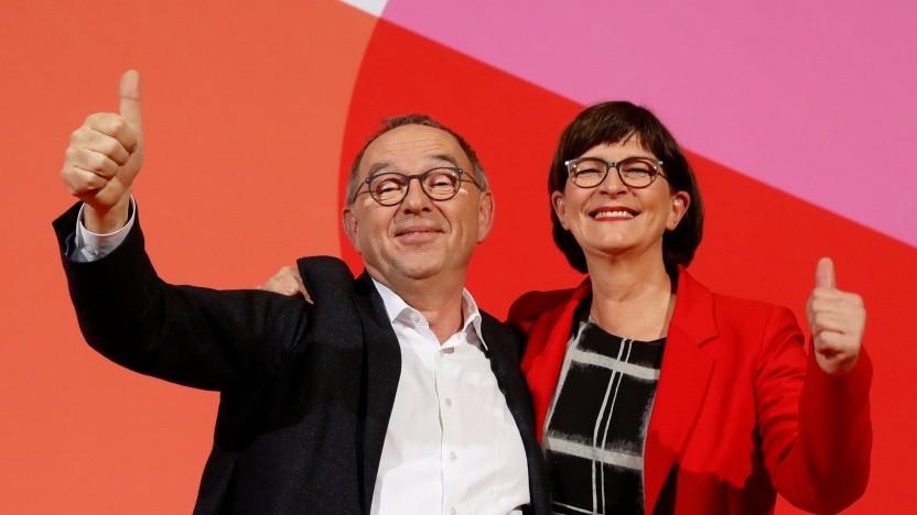 Norbert Walter-Borjans und Saskia Esken sollen künftig die SPD führen.