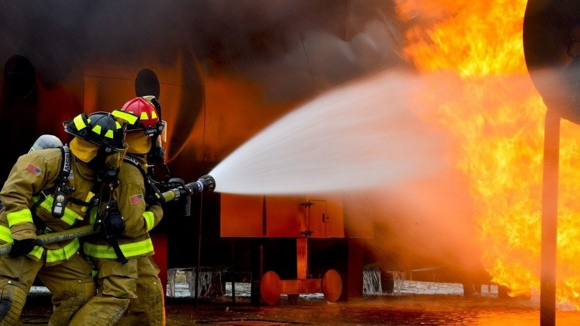Feuerwehrleute im Einsatz