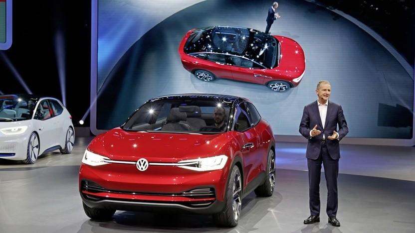 VW-Vorstand Herbert Diess mit dem ID Crozz: kein ID 3 in den USA