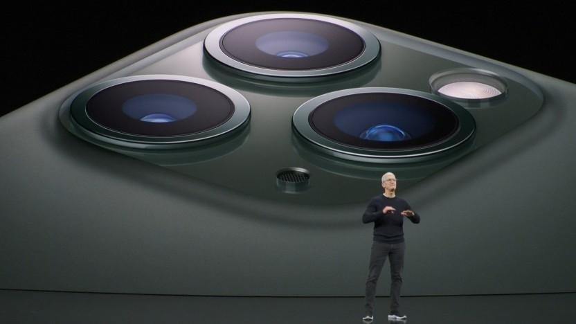 Tim Cook bei der Präsentation der neuen iPhones.