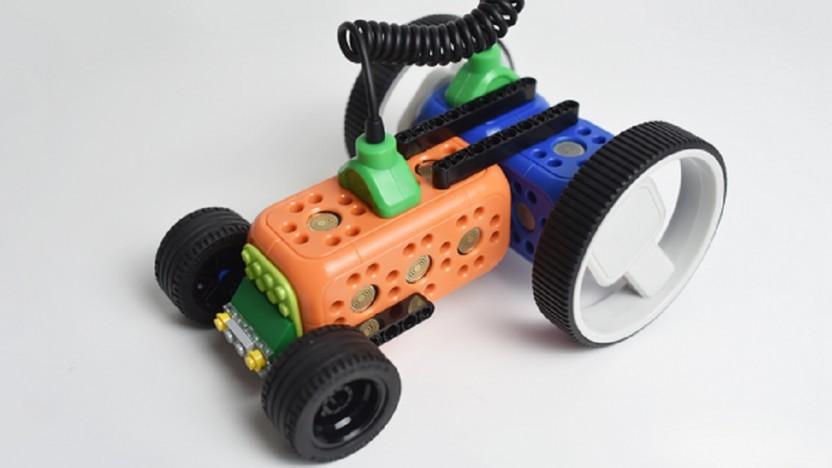 Der Roboterbausatz ist mit Lego kompatibel.
