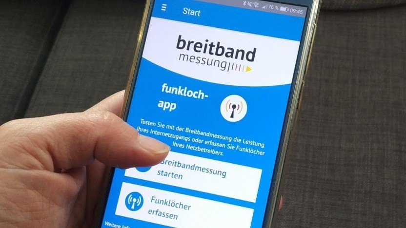 Die App zur Breitbandmessung