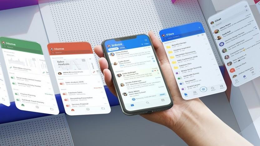 Microsoft überarbeitet die GUI von Office Mobile.