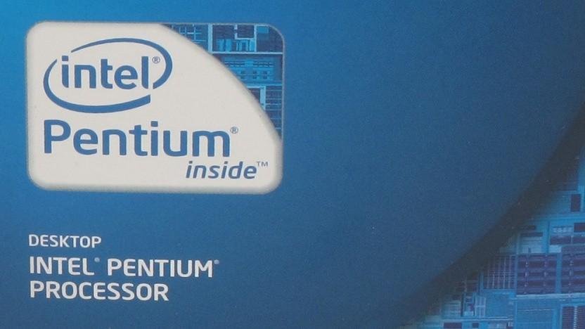 Ausschnitt einer Packung eines Pentium von 2013