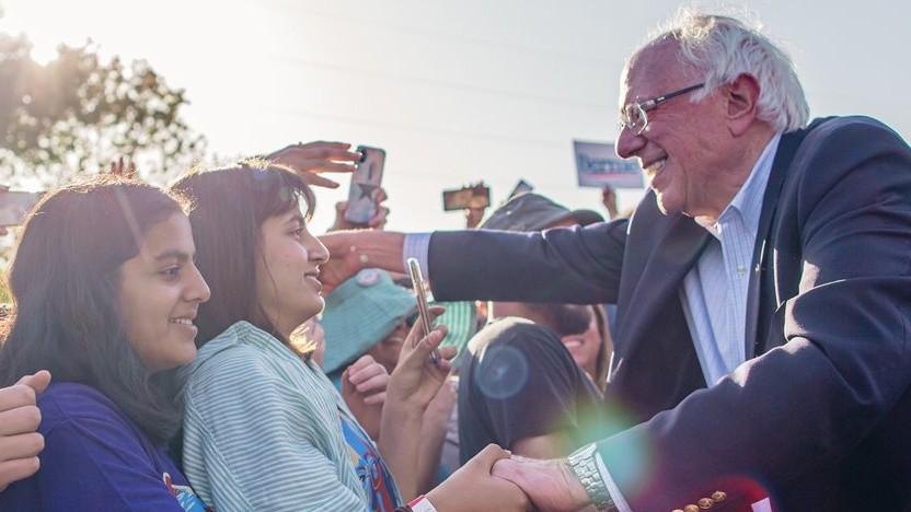 Wahlkampfauftritt von Bernie Sanders