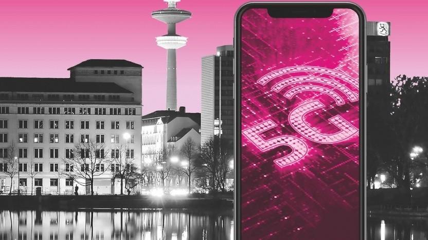 Werbebild der Telekom zu 5G