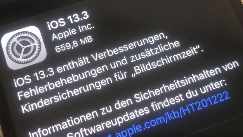 iOS 13.3 ist da