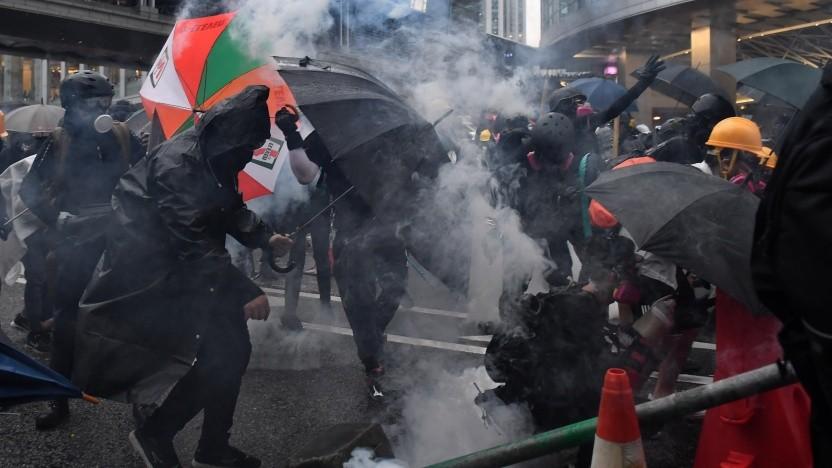 Bilder wie dieses von den Protesten in Hongkong finden Shutterstock-Nutzer in China nicht mehr.