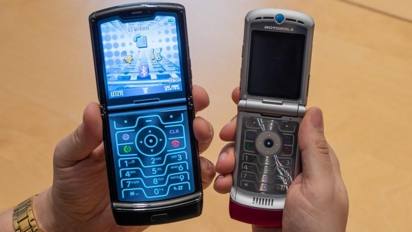 Das neue und das alte Razr von Motorola (Video)