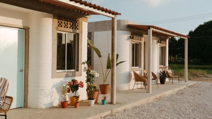 3D-gedruckte Häuser in Mexiko: drei Zimmer, Küche, Bad