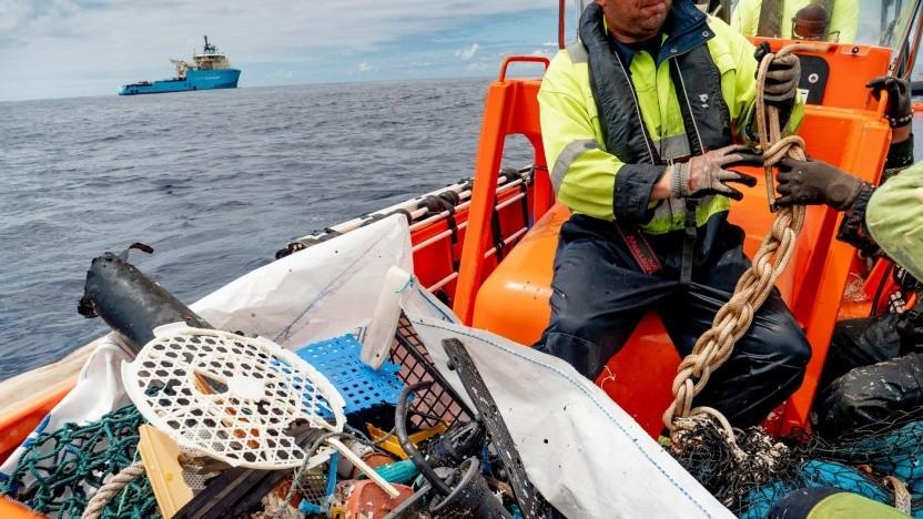 Plastikmüll aus dem Pazifik: Bau des System 002 wird vorbereitet.
