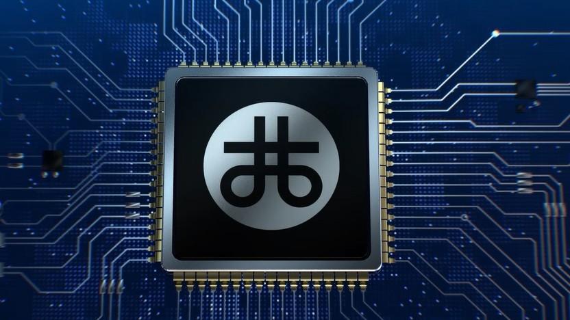 Logo von Zhaoxin auf einem SoC-Rendering