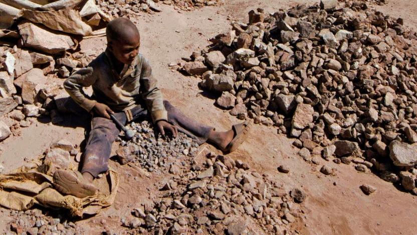 In der Demokratischen Republik Kongo wird Kobalt oftmals von Kindern abgebaut.
