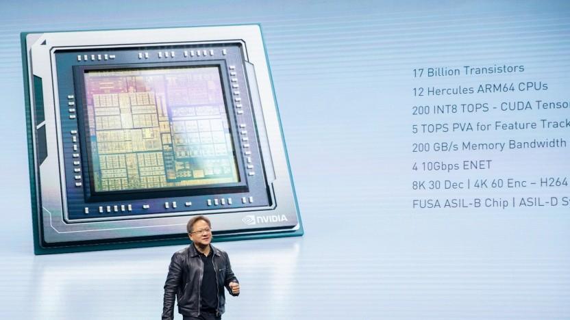 Jensen Huang stellt Orin für Automotive vor