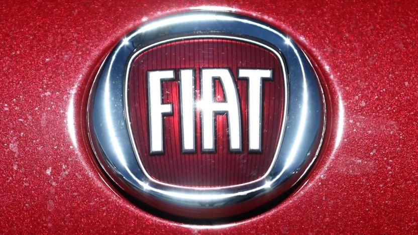 Logo auf einem Fiat-Fahrzeug